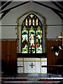 TM3780 : Stained Glass Window & Altar of St. Peter's Church by Adrian Cable