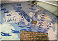 TF9115 : Business premises in Dereham Road (USAAF mural) by Evelyn Simak