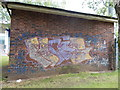 TM1544 : Graffiti on building in Alderman Road recreation ground by Hamish Griffin
