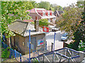 TQ0075 : Sunnymeads Station entrance, Down side by Ben Brooksbank