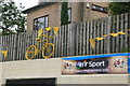 SK3092 : Yellow bikes promoting 'Le Grand Départ': The Blue Ball by Graham Hogg