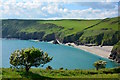 SX1450 : Lantic Bay in May near Polruan, Cornwall by Edmund Shaw