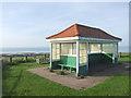 TR2970 : Seafront Shelter overlooking Grenham Bay by Chris Whippet