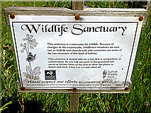 TM4077 : St.Peter's Church Wildlife Sanctuary sign by Adrian Cable