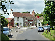 TR2647 : The Bell Inn, Shepherdswell by Robin Webster