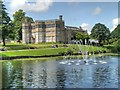 SD5718 : Astley Hall, Lake and Fountain by David Dixon