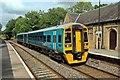 SJ3043 : Arriva Trains Wales Class 158, 158818, Ruabon railway station by El Pollock