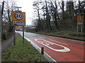 SO6606 : Start of the 30 zone in Blakeney by Jaggery