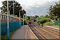 SJ3153 : Departing train, Gwersyllt railway station by El Pollock