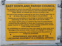 TM0321 : East Donyland Parish Council sign on jetty by Hamish Griffin