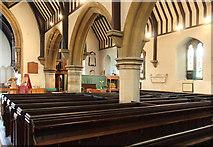 TQ2792 : St James the Great, Friern Barnet Lane, now St Katherine's Greek Orthodox Church - South arcade by John Salmon
