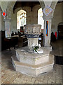 TM4280 : Font of St.Andrew's Church by Adrian Cable