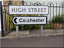 TM0321 : Colchester sign in East Donyland by Hamish Griffin