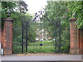 SJ8594 : Gates of Ashburne Hall by Bob Harvey