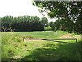 TG0815 : Fields by Woodforde Farm by Evelyn Simak