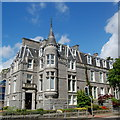 NJ9205 : Granite block, Queen's Gate, Aberdeen by Bill Harrison