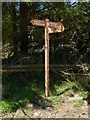 NS3582 : Signpost on Darleith Muir by Lairich Rig