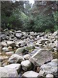 J3629 : The rocky bed of the Glen River above Sonny's Bridge by Eric Jones