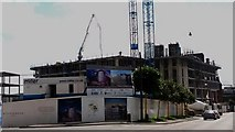 NZ2463 : Hotel under construction, Forth Street, Newcastle upon Tyne by Graham Robson