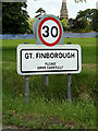 TM0157 : Great Finborough Village Name sign by Adrian Cable