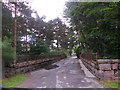NO5298 : Former railway bridge, Aboyne by Stanley Howe