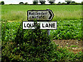 TL9856 : Louse Lane sign by Adrian Cable