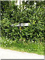 TL9356 : Roadsign on Cockfield Road by Geographer