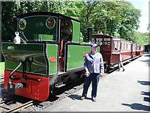 SS6846 : Lynton & Barnstaple Railway: train at Woody Bay Station by Martin Bodman