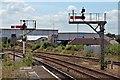 SJ0081 : Signals, Rhyl railway station by El Pollock
