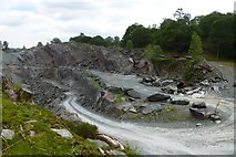 NY3204 : Slate quarry by DS Pugh