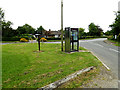TL9155 : Telephone Box & Village Pump on Great Green by Adrian Cable