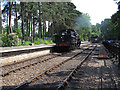 TG0939 : Trackwork and loco at Holt Station, North Norfolk Railway by Roger Jones