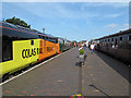 TG1543 : View along the platform, Sheringham Station, North Norfolk Railway by Roger Jones
