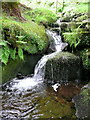 SE0908 : Waterfall on Rams Clough by Humphrey Bolton