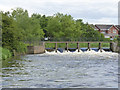SK1904 : Alders Paper Mill weir by Alan Murray-Rust
