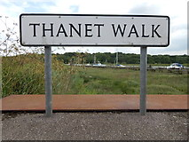 TM0321 : Thanet Walk sign (North) by Hamish Griffin