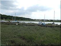 TM0321 : Rowhedge marina by Hamish Griffin