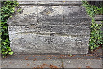 SP4539 : Benchmark on wall pier outside Horton General Hospital by Roger Templeman