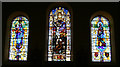 NJ4250 : Stained Glass Windows in St Thomas' Church by Anne Burgess