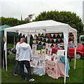 SJ9593 : Craft stall at Gee Cross Fete 2014 by Gerald England