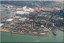 SU6200 : Portsmouth's Historical Dockyard and HMS Warrior (1860): aerial 2014 by Chris