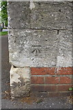 SP4539 : Benchmark on wall pier at Oxford Road/Hightown Road junction by Roger Templeman