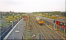 SE4081 : Northward down the East Coast Main Line at Thirsk, 1993 by Ben Brooksbank