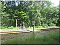 SE3005 : Footpath crossing the railway at Silkstone Fall by John Slater