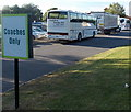 ST3552 : Impostor in a coaches-only park at Sedgemoor Services Northbound by Jaggery
