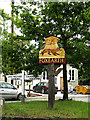 TL8344 : Foxearth Village sign by Adrian Cable