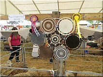 NT1472 : Shetland wool display by Richard Webb
