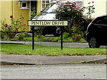 TL8146 : Pentlow Drive sign by Adrian Cable