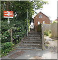 SY6890 : Poets Way entrance to Dorchester West railway station by Jaggery