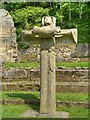 SE4498 : Cross at Mount Grace Priory by David Dixon